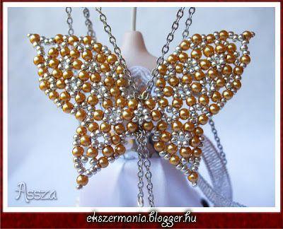 Ékszerkészítési útmutatók-tutorialok gyűjtőhelye: Pillangó medál - Assza (Butterfly pendant pattern ...