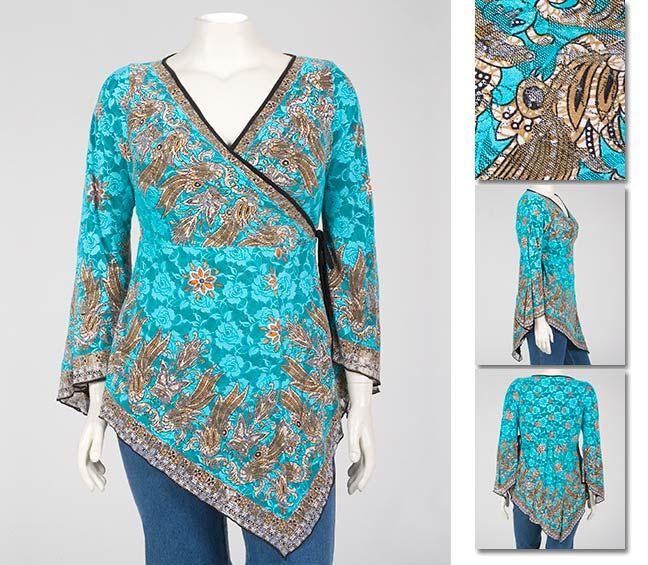 блузка из павлово-посадских платков