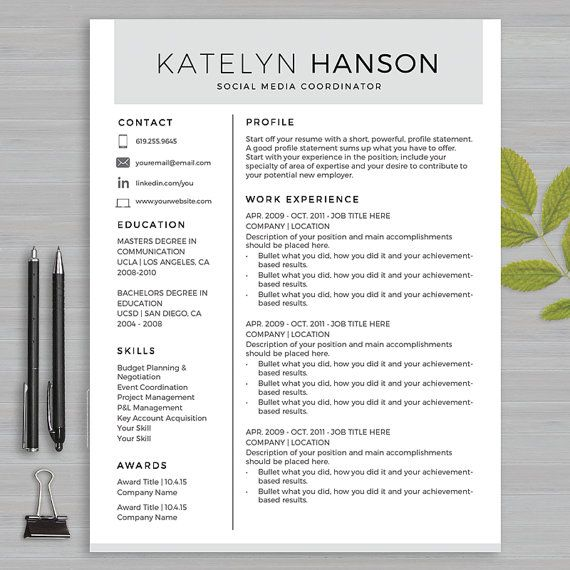 19 best Resume Templates Microsoft WORD images on Pinterest - resume microsoft