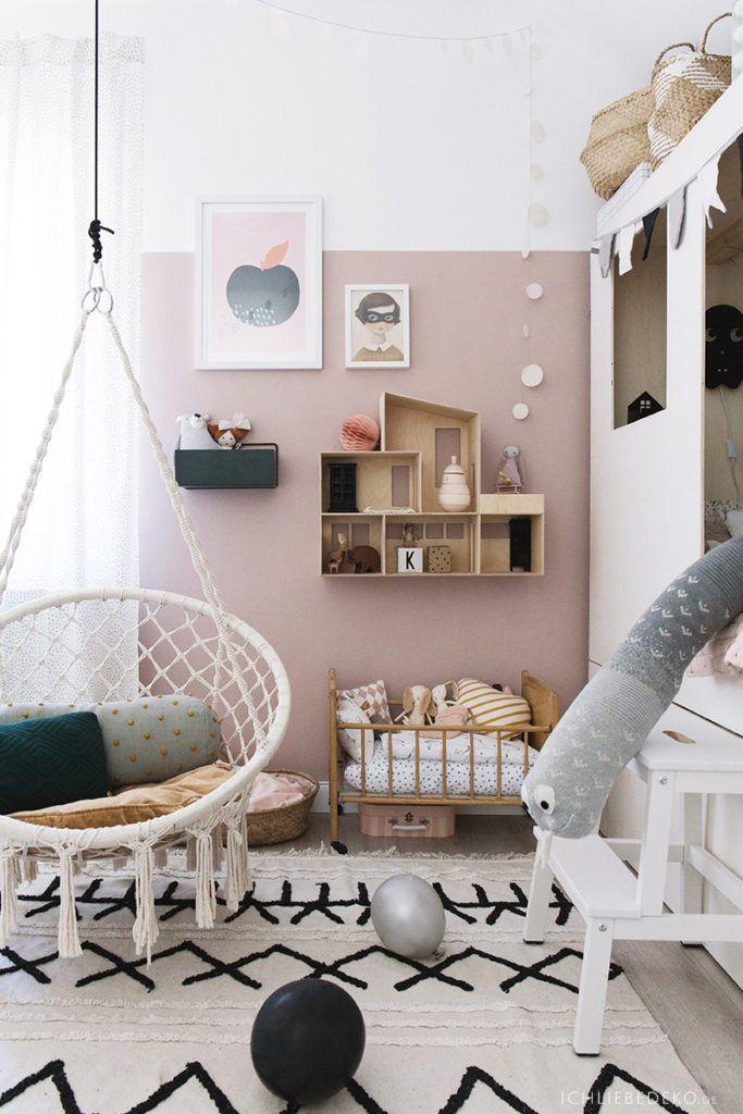 Trendy Mädchen Kinderzimmer Mit Puppenhaus Von Ferm Living Und