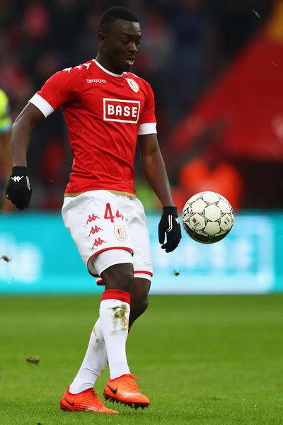Ibrahima Cisse of Standard Liege in action during the Belgian Jupiler Pro League match between Royal Standard de Liege and KAA Gent held at Stade Maurice Dufrasne on February 19, 2017 in Liege, Belgium.