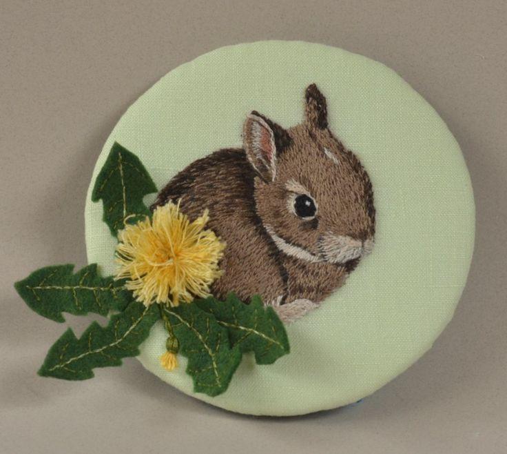 Bunny and dandelion by HL Tyler/Ludi
