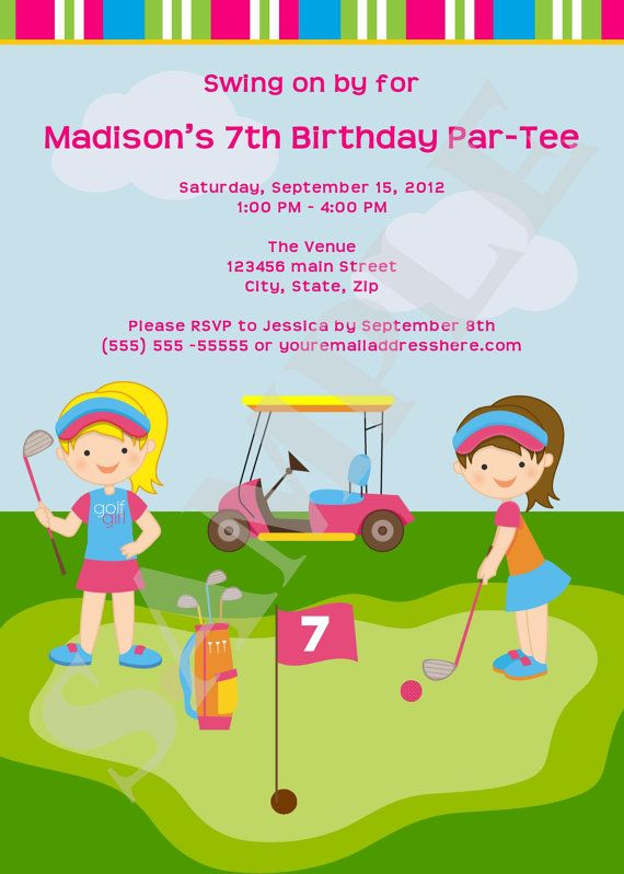 Mini golf invitations