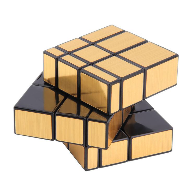 3x3x3 magic cube puzzle cube toys mirror block gold for Mirror rubik s cube