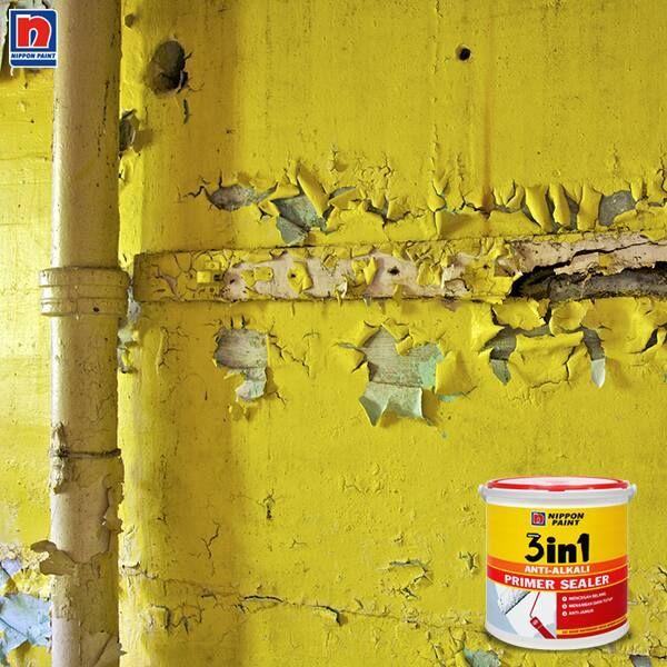 Cat yang mengelupas salah satu masalah yang sering terjadi di dinding. Untuk menjaga cat bebas dari pengelupasan, Sahabat Nippon Paint dapat menggunakan Nippon 3-In-1 Anti Alkali Primer Sealer. Menjaga hasil pengecatan tetap baru dan indah dengan daya lekat yang sempurna. Lihat kelebihan Nippon 3-In-1 Anti Alkali Primer Sealer lainnya di http://bit.ly/pengelupasan  #ImajinasiTanpaKompromi