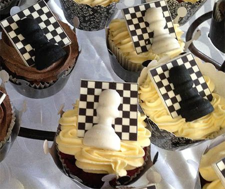 Cup cakes to celebrate the future of Chess champions in South Africa