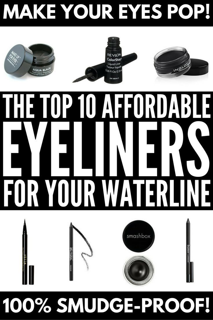 From pencil to liquid to gel, this roundup of the best eyeliner for your waterline will help you find the perfect pick for your eyes. They won't run, they won't smudge, and they'll last all day! We've included drugstore brands as well as more expensive options, basics for beginners, products for a more dramatic look, and great waterproof eyeliners we can't live without.