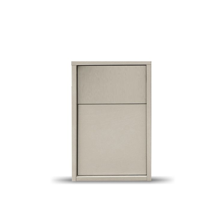 Fully assembled narrow bedside cabinet L 33 - D 42.3 - H 51.7 cm at My Italian Living Ltd