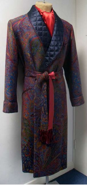 A quilted dressing gown. My father had  a shorter version which was called a smoking jacket.