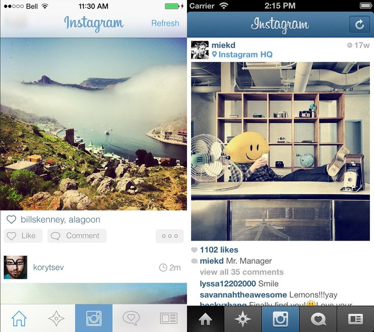 Unofficial Instagram iOS 7 Redesign http://dribbble.com/shots/1121249-Twitter-for-iOS-7?list=searches