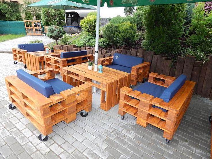 10 best 10 mẫu bàn ghế Sofa sang chảnh từ pallet gỗ images on ...