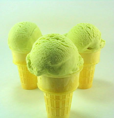 Fresh Mint Ice Cream ~T~ This is a refreshing ice cream and a great base to add chocolate shavings or small chocolate chips.