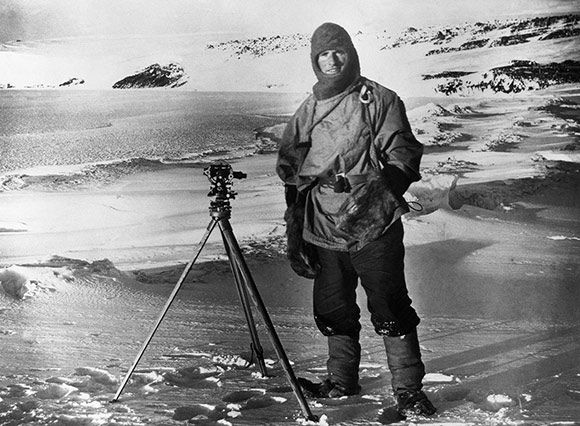 Robert Falcon Scott on a South Pole Expedition, I know he isn't Scottish but he's one of my heroes.