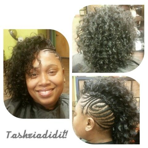 PhotoGrid protective style cornrows braids wavy hair
