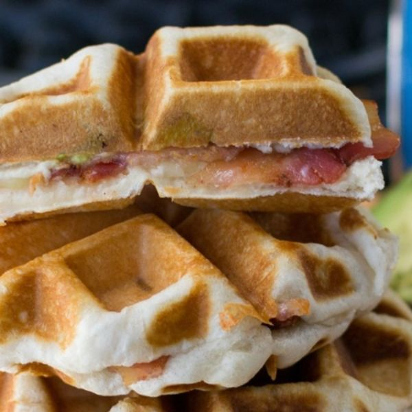 Grilled Cheese Waffles with Bacon and Avocado | Recipe
