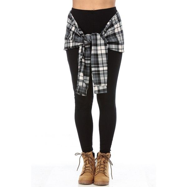 Black White Plaid and Stylish Tie Over Leggings ❤ liked on Polyvore featuring pants, leggings, bottoms, jeans, tartan plaid pants, plaid trousers, tartan plaid leggings, tartan trousers и tie pants