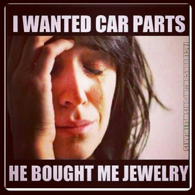 LMAO - Only a true car chick will understand