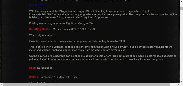 Rufilla's Premium Upgrade Guide | Game of Thrones Ascent Forums