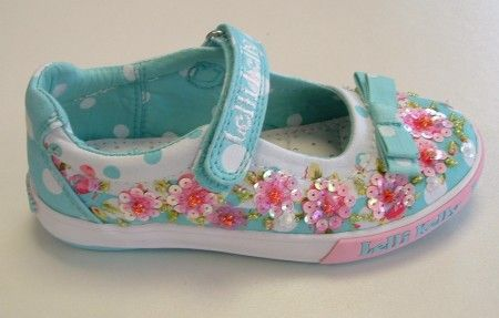 Lelli Kelly Dora Aqua Canvas Shoes