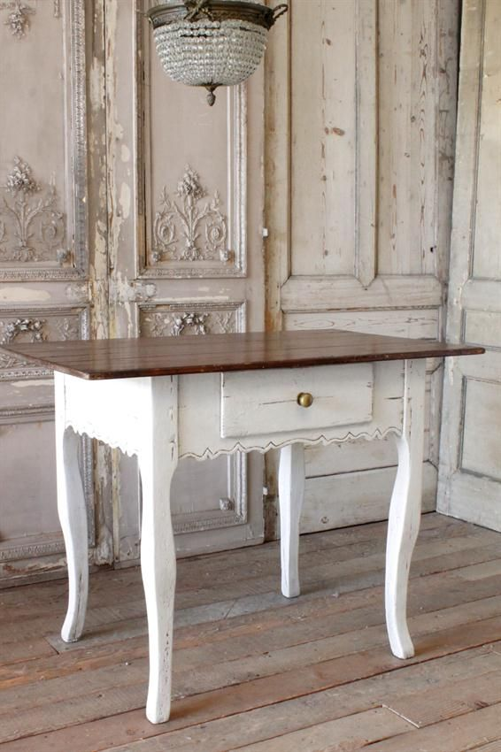 Vintage French Country Table Island from Full Bloom Cottage