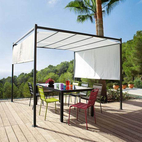Pergolato da giardino in cotone ecru H 220 cm Malaga | Maisons du Monde