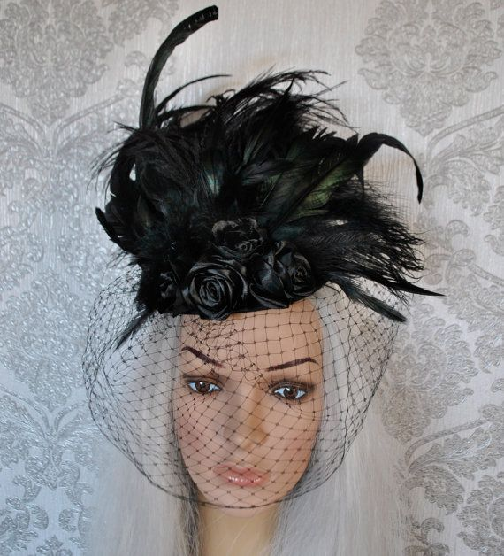 Gothic hat  Victorian hat  burlesque hat  hat with by MyWitchery