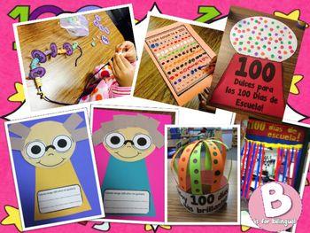 100 Days of School Fun! English & Spanish!