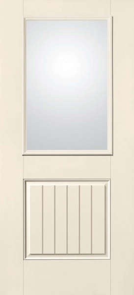 Therma Tru Smooth Star Clear Half Lite 2 Panel V Groove