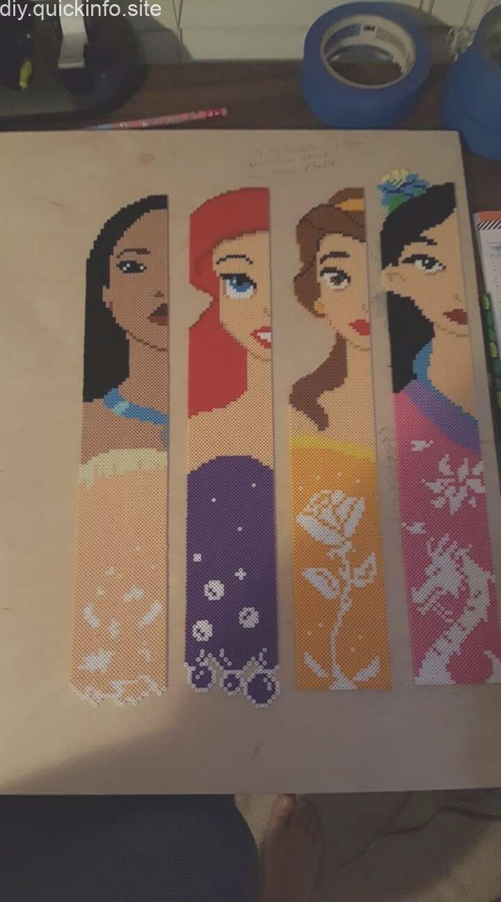 Disney Princess Perler Beads, #Beadingdisney #beads #Disney #Perler #Princess