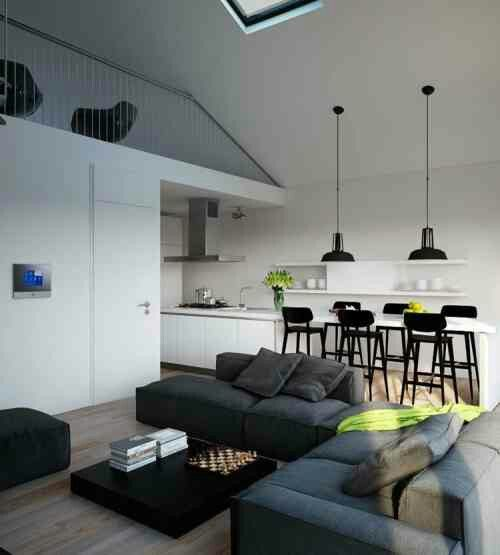 Modern Apartment With Small Living Room Dining Kitchen Combination Part 97