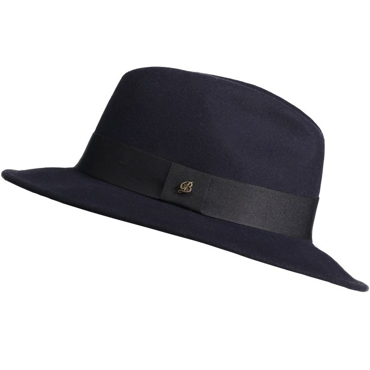 Cremona felt hat, dark blue