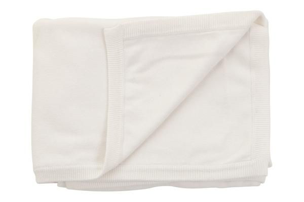 cotton cashmere cream white baby blanket