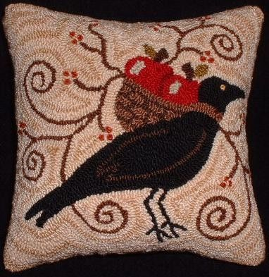 Primitive Needle Punch PATTERN Fall Messenger by thetalkingcrow (could be great rug hooking pattern)