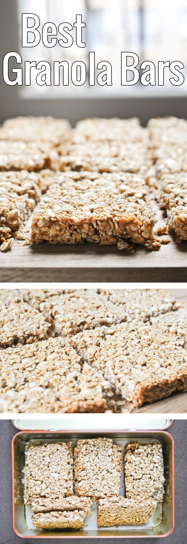 These simple granola bars make the perfect portable snack for both adults and kids. Customize to your heart's content with favorite nuts and dried fruits!