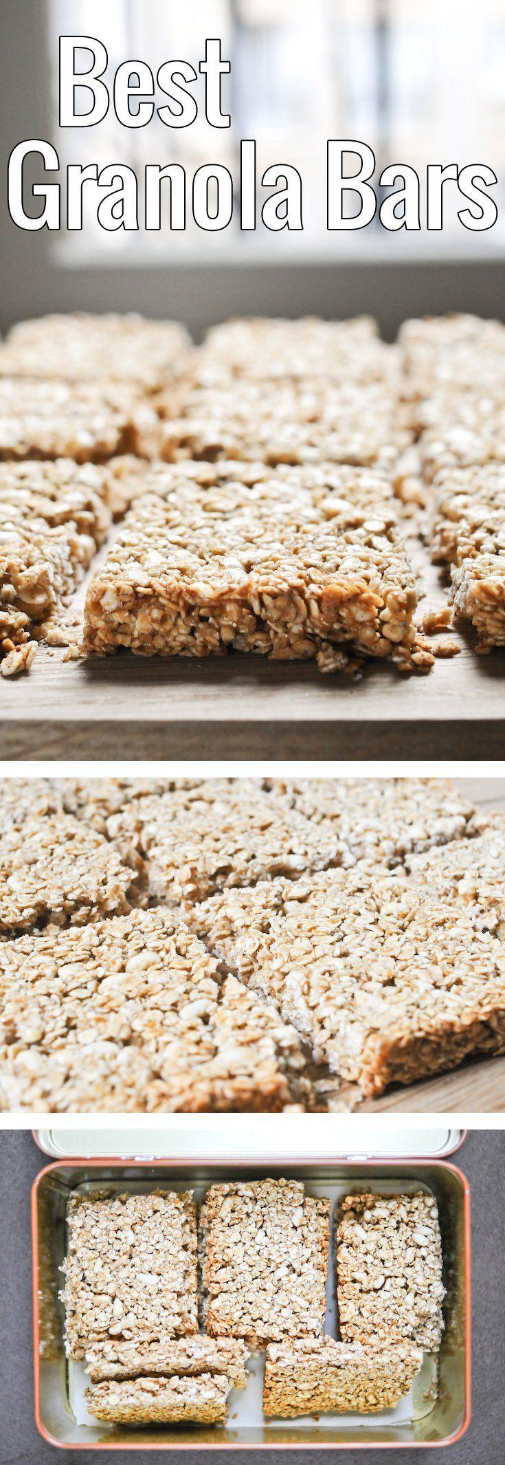 Des barres de céréales faciles à faire, et encore plus faciles à emporter pour un goûter sain, pour les adultes comme pour les enfants!