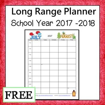 Fully editable 2017 to 2018 school year planner. Great for long range planning. There are two months per page so you can look ahead and plan out the time frame for your units without having to worry about making detailed lesson plans.