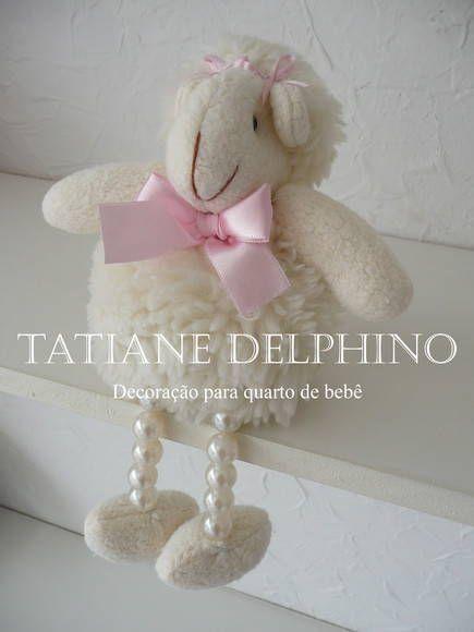 Ovelha perna de pérola | Ateliê Tatiane Delphino | ABB70 - Elo7