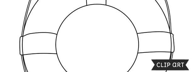Life Preserver Ring Template Clipart Life Preserver Ring Clip