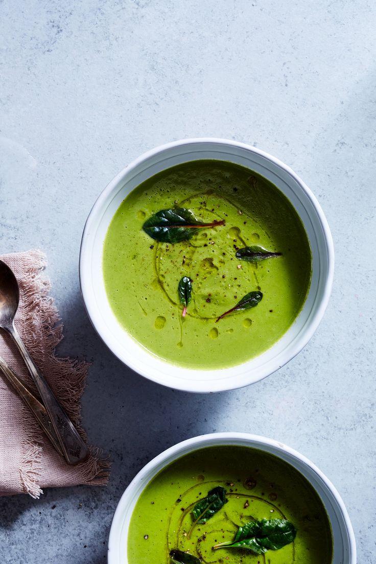 BRIGHT GREEN PEA & COCONUT SOUP — SK