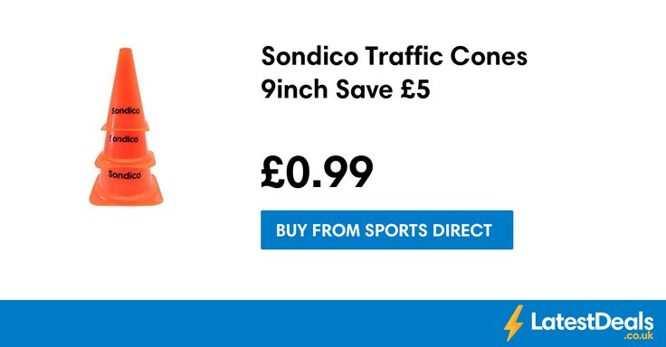 Sondico Traffic Cones 9inch Save £5, £0.99 at Sports Direct