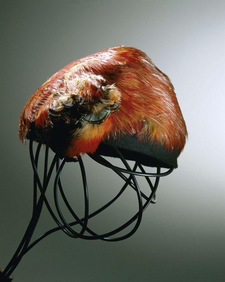 1950-1960, France - Hat by Caroline Reboux - Wool, feathers