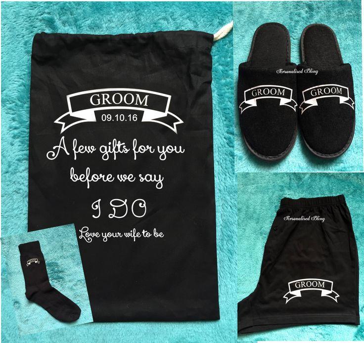 Groomsmen gift set, groom gift set, groom boxers,groom bag, groom socks, groom slippers, groom, groomsmen, best man gift set, usher, gift by personaliseddiamante on Etsy