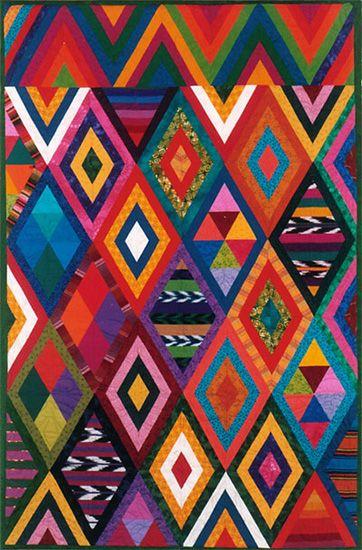 Priscilla Bianchi. Nebaj III (2003). Inspired by Guatemalan hand-woven textiles and Indonesian batiks.