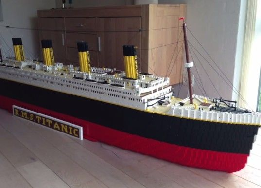 Boy builds amazingly detailed LEGO Titanic using 30,000 bricks! | Inhabitots