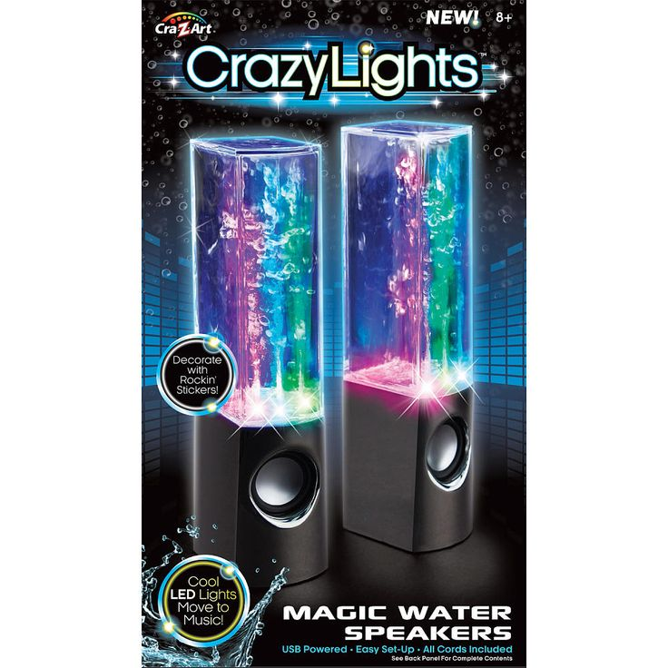 Shimmer n Sparkle Fashion Lights Dancing Water Speakers