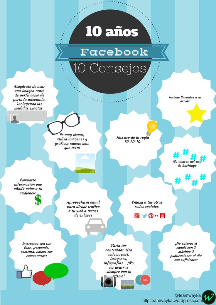 10 consejos para triunfar en #Facebook   #RedesSociales #SocialMedia #Infografia #Infographic