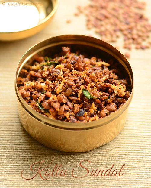 Kollu sundal south Indian sundal recipe with step by step pictures. Recipe in tamil also available.