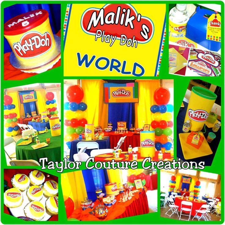 Maliks Play Doh World | CatchMyParty.com