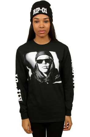 RIP-01 AALIYAH Long Sleeve in Black by Rum