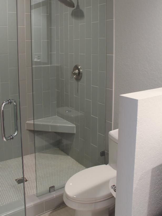 subway tile turned vertically adds visual interest to this clean lined bathroom - Bathroom Tiles Vertical Or Horizontal